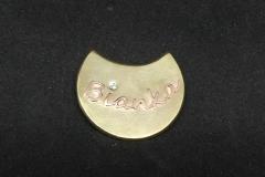 Kupfer auf Messing mit Zirkonia